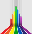 Abstract design element with colorful lines vector image vector image