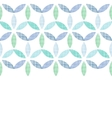 Abstract textile blue green leaves horizontal vector image vector image