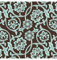 asian ornamental colored antique floral pattern vector image vector image