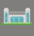balcony or terrace fence decorated with marble vector image vector image