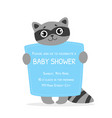 bashower invitation template card with cute vector image vector image