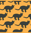 black cat seamless pattern vector image