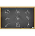 blackboard medical icons vector image vector image