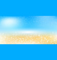 blurred summer background beach with sparkles and vector image vector image
