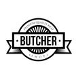 Butcher shop logo vintage vector image