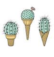 cactus ice creams vector image