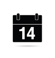 calendar icon on a white vector image