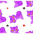 cheshire cat pattern vector image