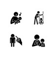 child care black glyph icons set on white space vector image vector image