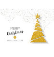 christmas new year gold glitter holiday pine tree vector image vector image