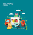 cleaning company service concept flat vector image