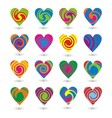 Colorfull Heart Element vector image vector image