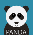 Cute Panda bear cartoon flat icon avatar vector image vector image