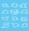 Different abstract lineart clouds collection Flat vector image vector image