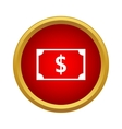 Dollar banknote icon in simple style vector image
