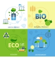 Ecology 4 flat icons composition vector image
