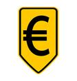 Euro button vector image