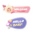 fantastic baby shower badges vector image vector image