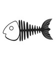 fish skeleton icon marine fishbone shape element vector image