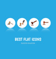 flat icon lawyer set of court justice crime and vector image vector image