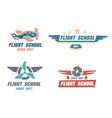Flight school emblems vector image