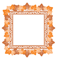 Frame with autumn leaves vector image vector image