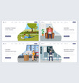 freelance job landing page template kit distance vector image vector image