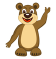 Funny Cartoon Bear vector image vector image