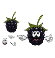 Funny ripe blackberry fruit character vector image vector image