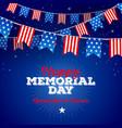 happy memorial day type design vector image