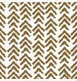 herringbone rough gold color seamless vector image vector image