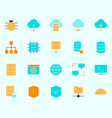 hosting icons set simple minimal 96x96 pictograms vector image vector image