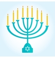 jewish holiday Hanukkah background with Burning vector image