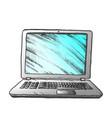 laptop computer digital gadget color vector image vector image