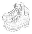 mens boot concept rendering of 3d vector image