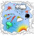 pop art comic book style explosion boom set vector image vector image