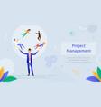 project management business multitasking teamwork vector image