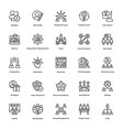 project management line icons set 2 vector image vector image