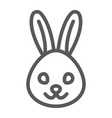 rabbit line icon animal and zoo bunny sign vector image vector image