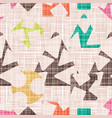 retro design textile with geometric shapes vector image vector image