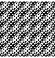 seamless monochrome diagonal square pattern vector image vector image