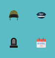 set of history icons flat style symbols with grave vector image