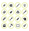 Set round icons of art vector image vector image
