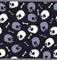 skull bones halloween pattern bckg dark vector image vector image