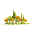 small island with trees forest vector image vector image