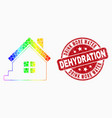 spectrum pixelated home icon and distress vector image vector image