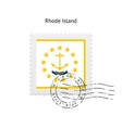 State of Rhode Island flag postage stamp vector image