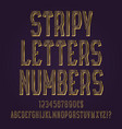 stripy golden letters numbers dollar and euro vector image vector image