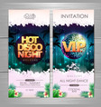 summer party poster design hot disco night vector image vector image