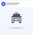 taxi icon filled flat sign solid vector image vector image